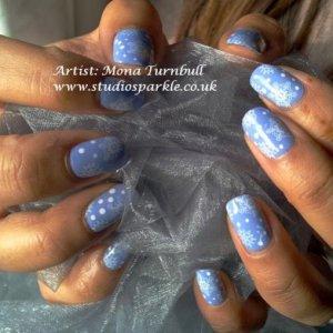 Snowflake nails! :)