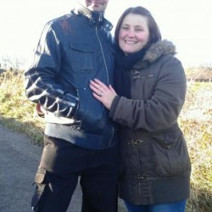 Me and hubby on a winter walk Nov 2012