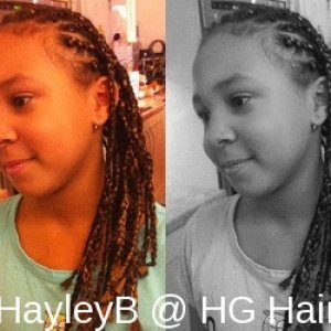 full head corn row to braid with extension