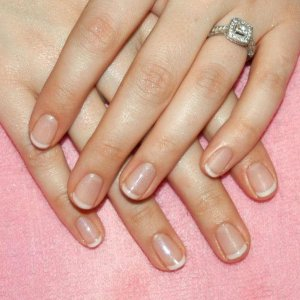 """American Shellac with """"Mother of Pearl"""" on top."""