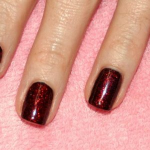 """Shellac in """"Overtly Onyx"""" with """"Ruby Ritz"""""""