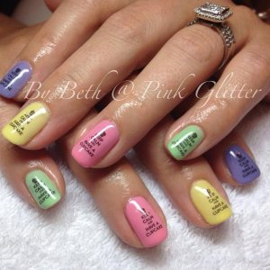Custom blended pastels with water decals  LED cure, clear as finishing layer.