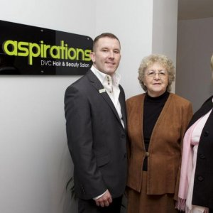 Me, Eve Taylor OBE and Beryl inside the new Spa