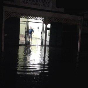 My salon at 9pm tonight, water still rising fast