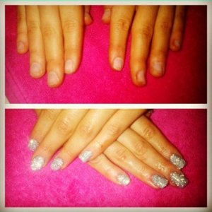 Apologies about the poor quality, I took the photo from my beautylish! Shellac Rockstar over Acrylic