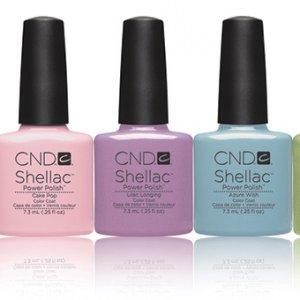 Shellac Spring colours
