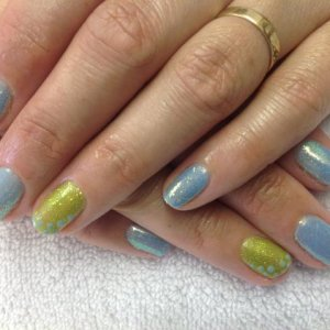 shellac spring colours and glitters