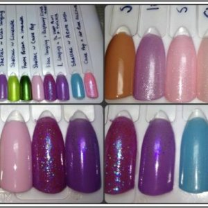 Shellac Sweet Dreams collection - some layering and additives.