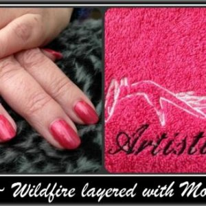 Shellac layered in Wildfire & Moonlight & Roses.