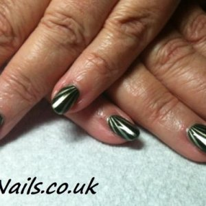 Shellac Pretty Poison with stamping