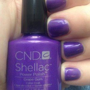 CND Shellac in Grape Gum