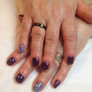 Gelish: Night Reflection & He loves me he loves me not & waterfields