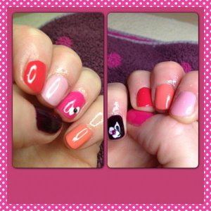 Gelish: Diva, sweeet morning dew, A petal for your thoughts,  take action, gossip girl