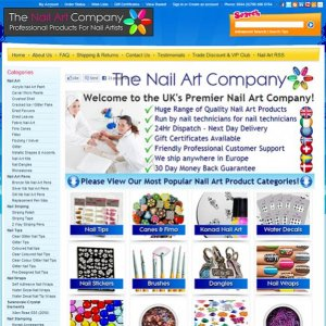 The Nail Art Company Website - Everything a nail technician needs to deliver amazing and unique nail art.