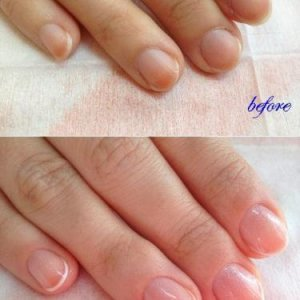 Classic manicure with french polish