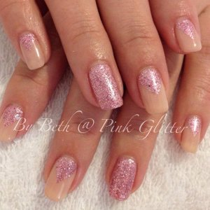 Salmon Beige with pink glitter