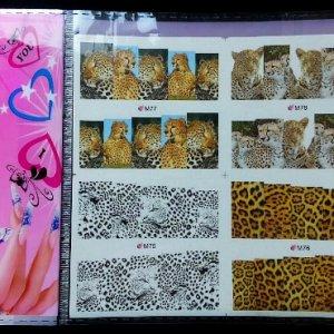 Leopard nail stickers