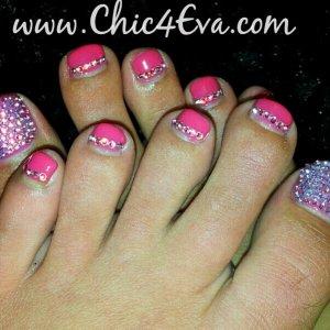 Swarovski crystal toes rose ab