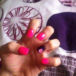 Pink and Purple Acrylic