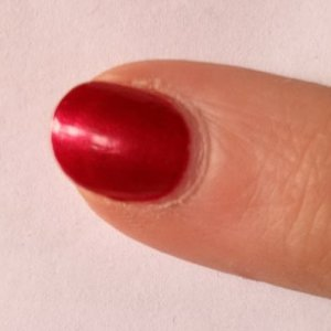 Vinylux in red Baroness - one man's 7 day achievement.