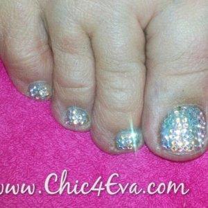 Swarovski crystal toes full crystal ab