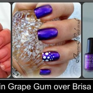 Vinylux over Brisa lite in Grape Gum