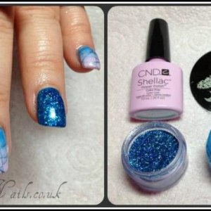 Cake Pop ~ Cerulean Blue additive ombre & stamping