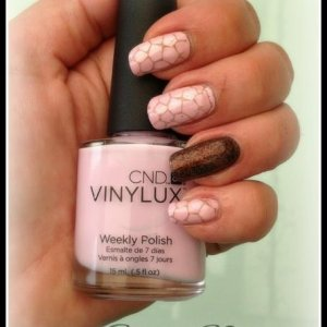 Vinylux cake pop & grapefruit sparkle accent Rubble with irresistible glitter in chocolate