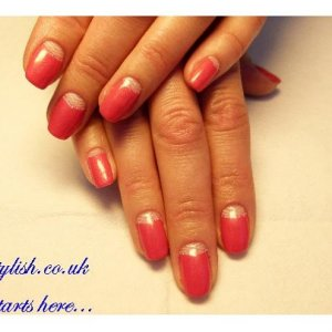 Gelish moon manicure