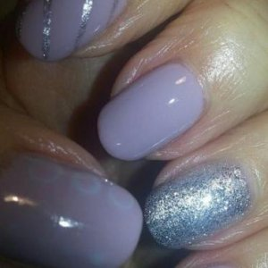 Colour- Marilyn and nail art silver 138 also ring finger 138 1st layer 2nd layer 106
