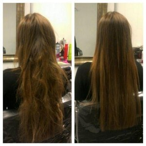 Competitors vs our virgin hair. Before &  After