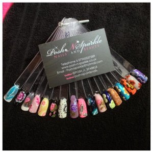 Some of my one stroke nail art