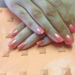 Shellac tropix & tangerine glitter
