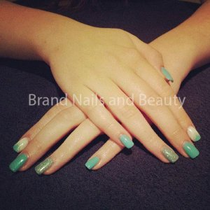 Gel extensions with Jades a Gem Gellux and nail art.