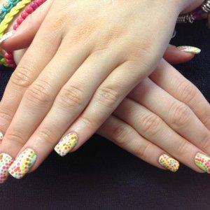 L&P enhancements with VINYLUX nail art