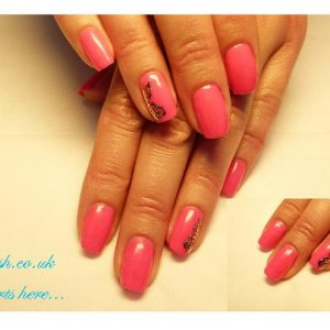 Gelish manicure with nail art