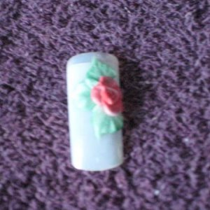 Nails 005 3d acrylic rose