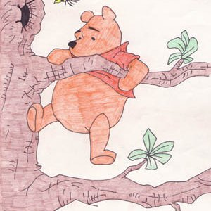 Winnie I drew freehand