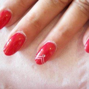 calgel overlay with nail art