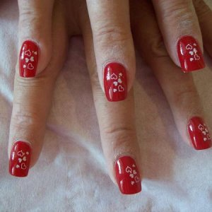 konad valentines nails