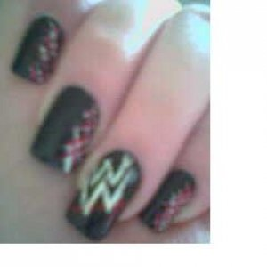 WWE Nails, That were completely awesome. :-P