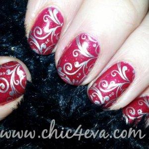 Shellac Ruby Ritz silver pattern