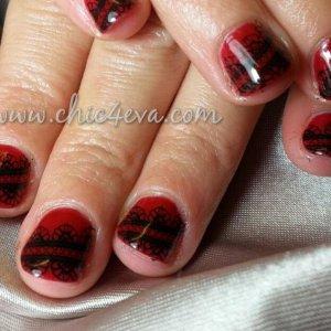 Shellac scarlet letter Black lace