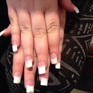 CND Acrylic French tips