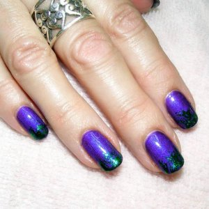 Purple Purple and emerald foil fade