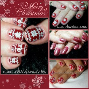 Christmas nail collage