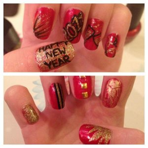New Years nails 2013