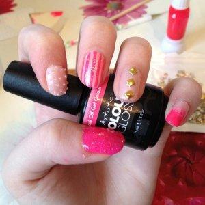 Pink mix n match using Artistic Gel Polish