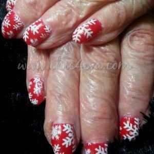 89yrs old shellac snowflakes