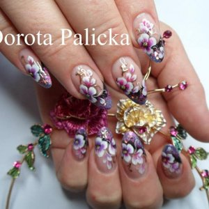 Dorota Palicka one stroke nail art